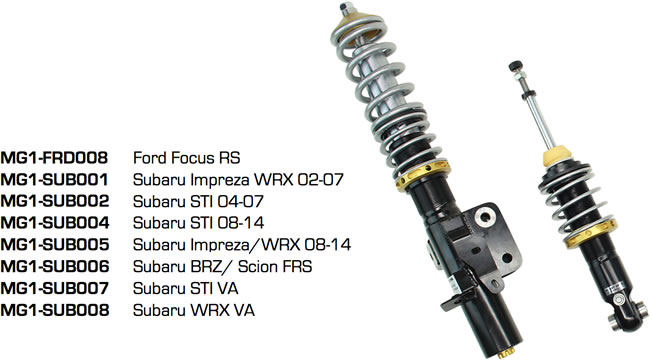 Coilover Applications