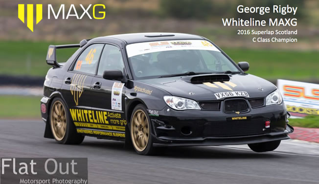 George Rigby Whiteline MAXG 2016 Superlap Scotland C Class Champion