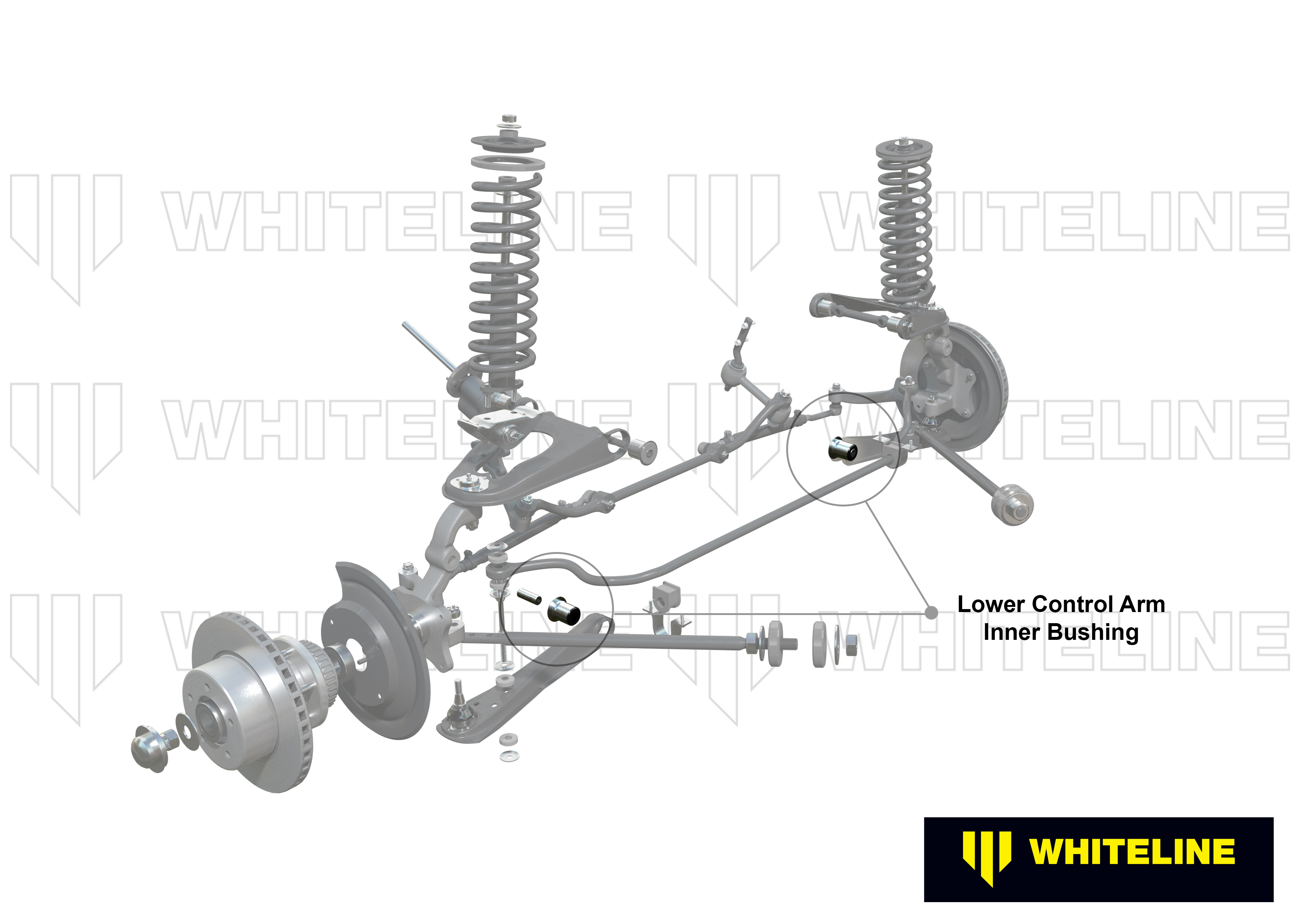 W51016 Whiteline Front Control Arm Lower Inner Bushing FOR FORD FALCON XB